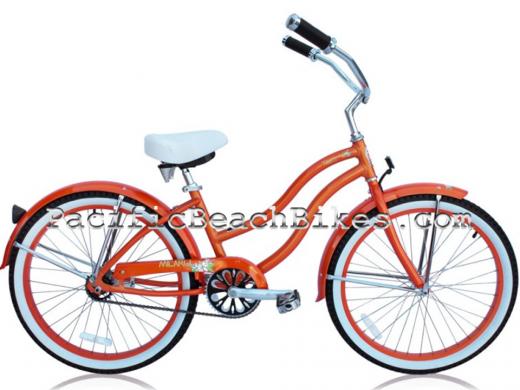 "Girls 24"" Orange Tahiti LX Aluminum Frame ""Micargi Bicycles"""