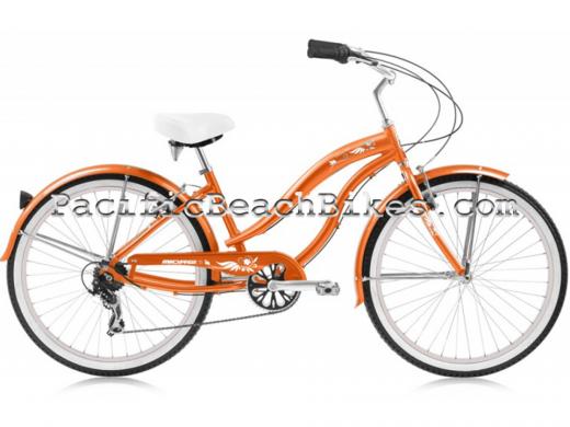 Girls 24″ Orange Rover LX 7 Speed Aluminum Frame Micargi Bicycles
