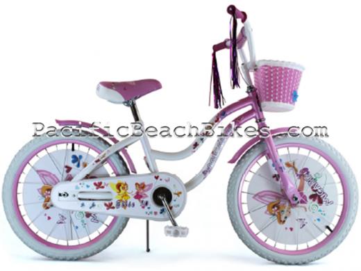 """Micargi White & Pink Ellie 20"""" Kids Bicycle"""