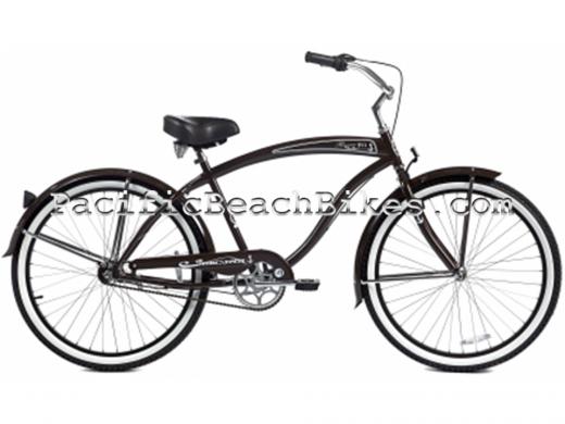 Brown Men's NX3 3 Speed Rover Beach Cruiser Micargi Bicycles