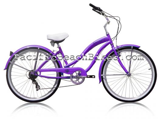 Micargi Purple 26 inch 7 Speed Rover Beach Cruiser