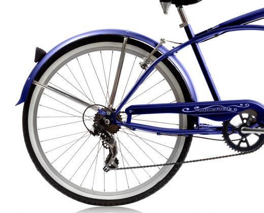"""Mens Blue Pantera 7 Speed Beach Cruiser """"Micargi Bicycles"""""""