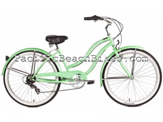 Womens Pantera 7 Speed Beach Cruiser Mint Micargi Bicycles