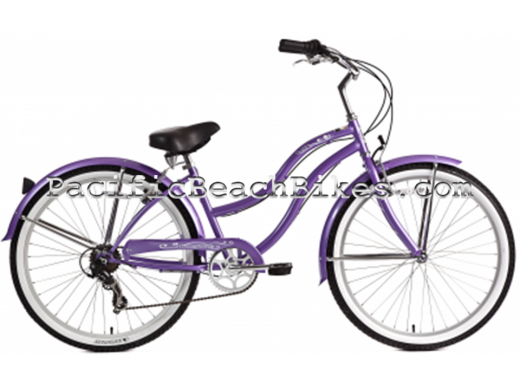 Womens Pantera 7 Speed Beach Cruiser Purple Micargi Bicycles