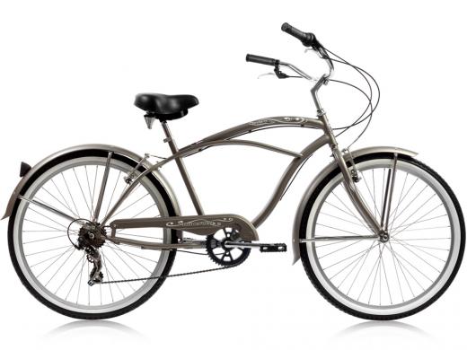 "Mens Grey Pantera 7 Speed Beach Cruiser ""Micargi Bicycles"""