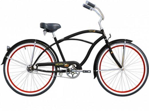 Tahiti Mens Gloss Black Beach Cruiser Micargi Bicycles