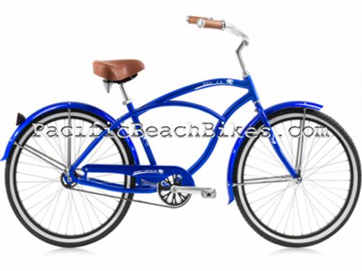 Mens Blue Tahiti LX Aluminum Beach Cruiser Micargi Bicycles