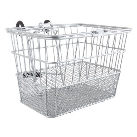 Mesh Bottom Lift-Off Basket Silver