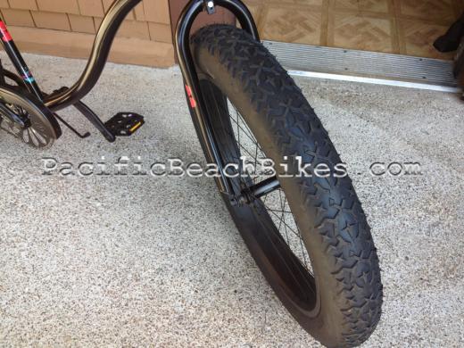 Micargi Slugo Fat Tire Cruiser Apehangers Matte Black