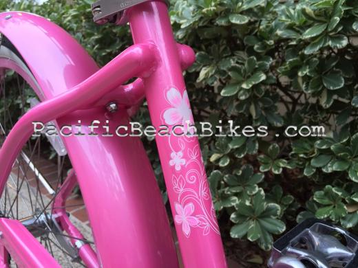 Tahiti LX Pink Aluminum Beach Cruiser 26inch Micargi Bicycles