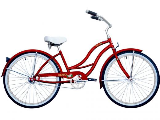 Tahiti Red Ladies Micargi Bicycles Beach Cruiser