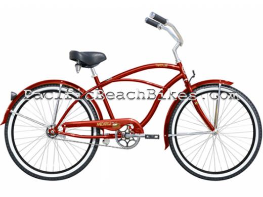 Tahiti Mens Red Beach Cruiser Micargi Bicycles