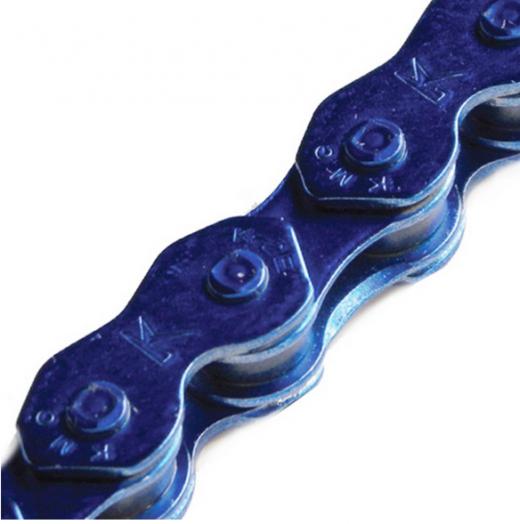 "KMC K710 Chain: 1/8"", 112 Links, Shiny Blue"