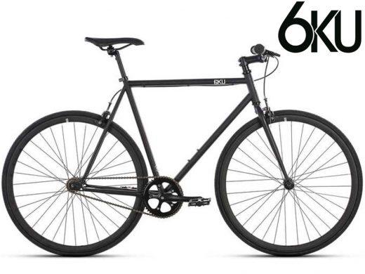 6ku Nebula Fixed Gear Single Speed Fixie Matte Black