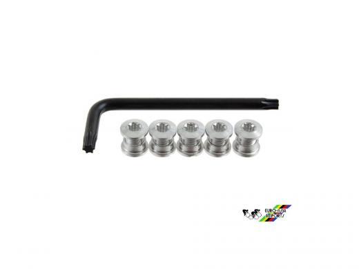 Sugino AL TORX Track Chainring Bolts Torx T30 Wrench Silver