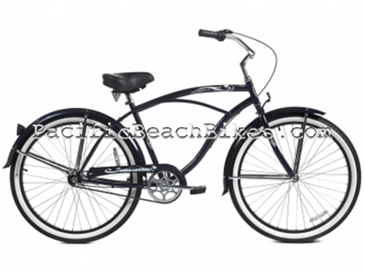 Men's Dark Midnight Blue Tahiti NX3 3 Speed Beach Cruiser Micargi Bicycles