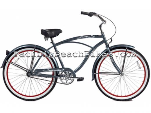 Men's Grey Tahiti NX3 3 Speed Beach Cruiser Micargi Bicycles