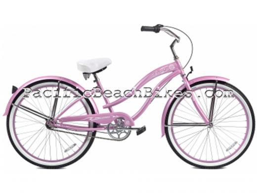 Pink Rover NX3 3 Speed Beach Cruiser Micargi Bicycles