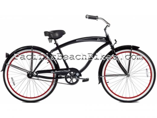 Mens Rover GX Black 26 inch Beach Cruiser Micargi Bicycles