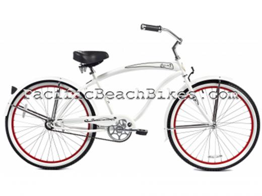 Mens Rover GX White 26 inch Beach Cruiser Micargi Bicycles