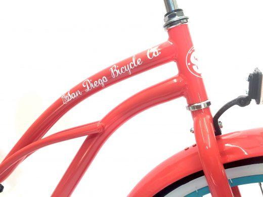 """Ladies Garnet – Coral """"San Diego Bicycle Co."""""""