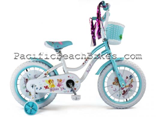"Micargi 16"" Ellie Baby Blue & White kids bicycle beach cruiser"