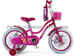 """Micargi 16"""" Ellie Pink & Violet kids bicycle beach cruiser"""