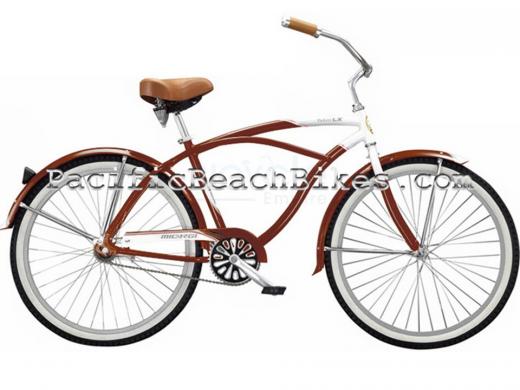 Mens Brown Tahiti LX Aluminum Beach Cruiser Micargi Bicycles