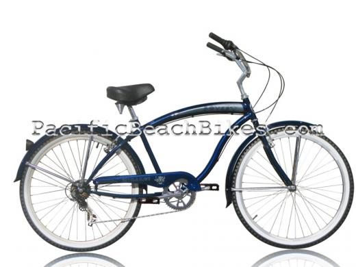 Mens Rover Dark Blue 7 Speed Beach Cruiser Micargi Bicycles