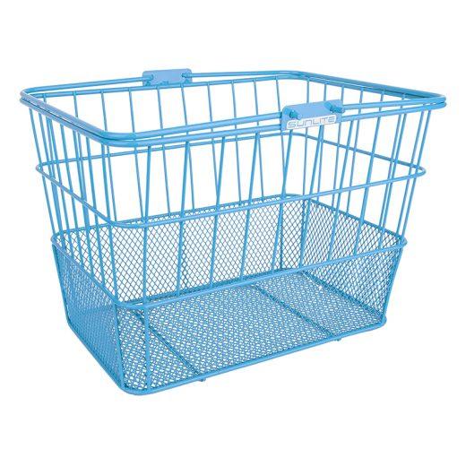 Mesh Bottom Lift Off Basket Baby Blue