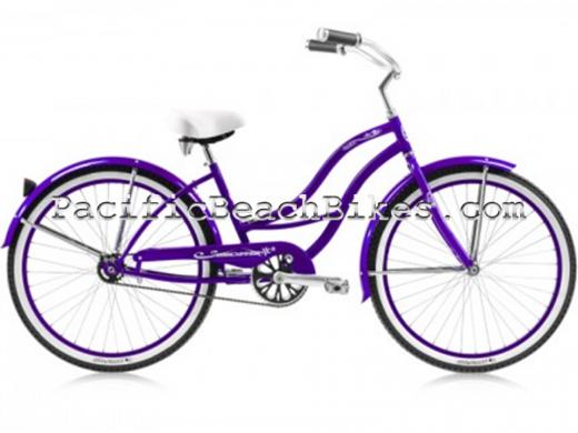 Womens Tahiti LX Aluminum Frame Purple Micargi Bicycles