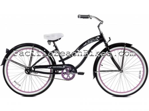 Black & Pink Womens Rover NX3 3Speed Beach Cruiser Micargi Bicycles