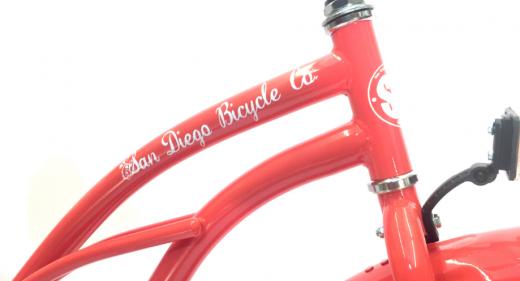 """Ladies Garnet 3 Speed Coral """"San Diego Bicycle Co."""""""
