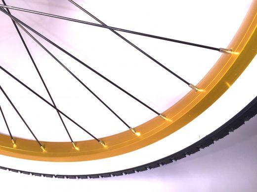 """Matte Black w Gold Rims & White Walls """"San Diego Bicycle Co."""""""
