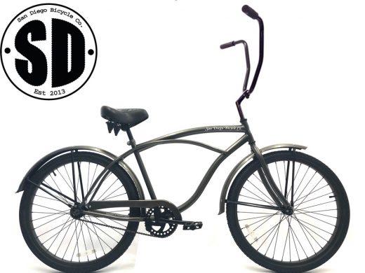 """Men's Garnet Chopper Glossy Grey """"San Diego Bicycle Co."""""""