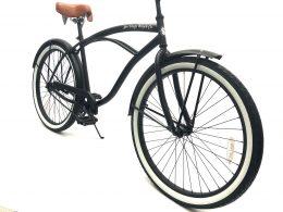 """Men's Garnet Matte Black White Walls """"San Diego Bicycle Co."""""""