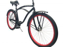 "Men's Garnet Matte Black w Red Rims ""San Diego Bicycle Co."""