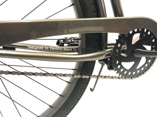 "Men's Garnet Glossy Grey ""San Diego Bicycle Co."""
