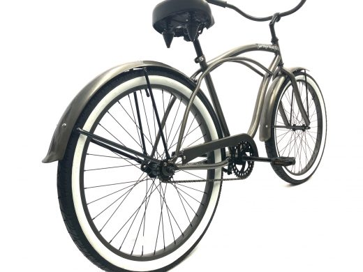 "Men's Garnet Glossy Grey white wall ""San Diego Bicycle Co."""