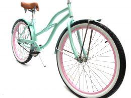 "Ladies Garnet - Sea Glass w Light Pink ""San Diego Bicycle Co."" Beach Cruiser"