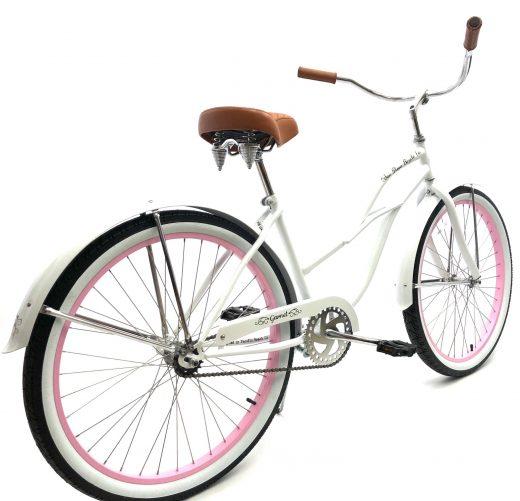 "Ladies Garnet - Pearl White w Light Pink ""San Diego Bicycle Co."""