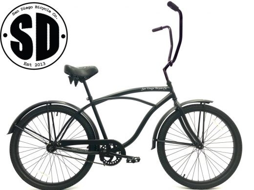 "Men's Garnet Matte Black ""San Diego Bicycle Co."""