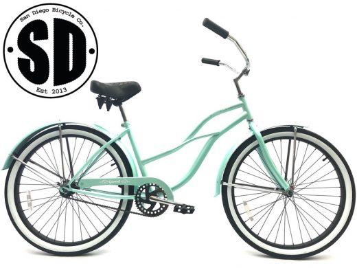 "Ladies Garnet - Sea Glass w Black ""San Diego Bicycle Co."""