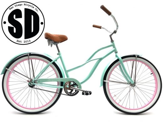 "Ladies Garnet - Sea Glass w Light Pink ""San Diego Bicycle Co."""