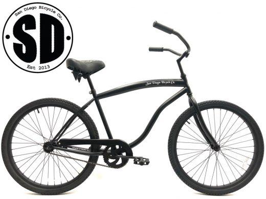 "Beach Bum Cruiser- Matte Black ""San Diego Bicycle Co."""