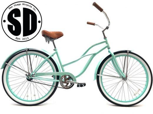 "Ladies Garnet - Sea Glass ""San Diego Bicycle Co."""