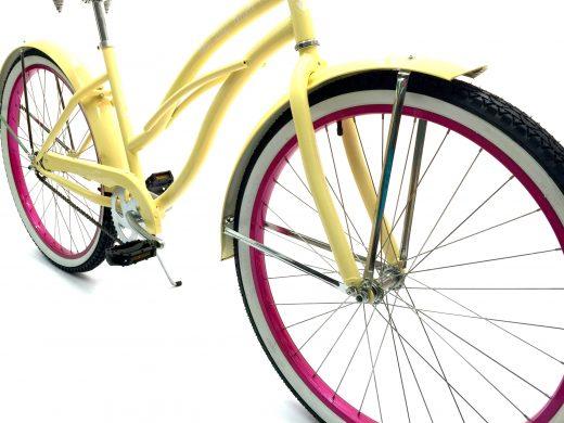 "Women's Garnet - Vanilla w Hot Pink ""San Diego Bicycle Co."" Beach Cruiser"