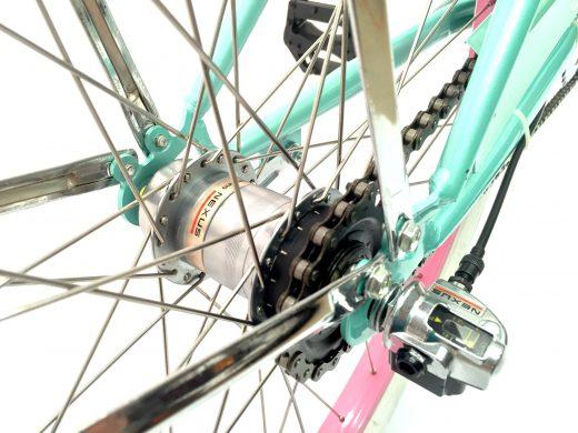 "Ladies Garnet 3 Speed Sea Glass w Pink ""San Diego Bicycle Co."""
