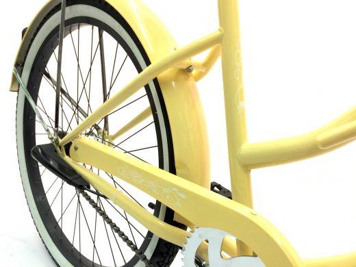 "Ladies Garnet 3 Speed Vanilla w Black ""San Diego Bicycle Co."""