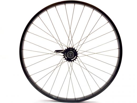 "26"" Gloss Black Beach Cruiser Wheel Set ""San Diego Bicycle Co"""